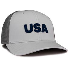 Adidas Men's USA Golf Trucker Hat - Grey Two-White