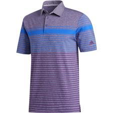 Adidas Glory Blue-Glory Purple-Tech Purple Ultimate365 Engineered Heathered Polo Shirt