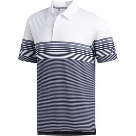 Adidas Men's Ultimate365 Gradient Block Stripe Polo