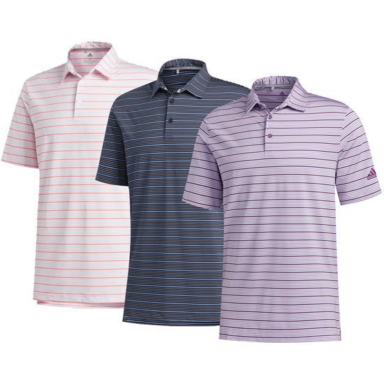 Adidas Men's Ultimate365 Pencil Stripe Polo Shirt