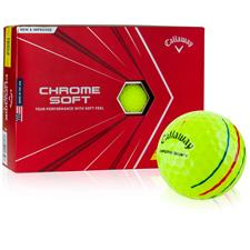 Callaway Golf Chrome Soft Yellow Triple Track Custom Logo Golf Balls