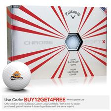 Callaway Golf Prior Generation Chrome Soft X Custom Logo Golf Balls
