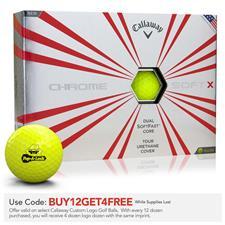 Callaway Golf Prior Generation Chrome Soft X Yellow Custom Logo Golf Balls