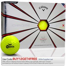 Callaway Golf Prior GenerationChrome Soft X Yellow Custom Logo Golf Balls