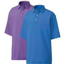 FootJoy Men's Previous Season 4 Dot Jacquard Self Collar Polo