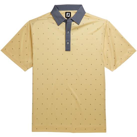 FootJoy Men's Prev Season Birdseye Argyle Print Self Collar Polo