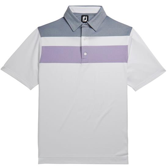 FootJoy Men's Prev. Season Double Block Birdseye Pique Polo