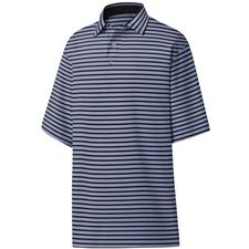 FootJoy Lavender-Black Lisle 2 Color Stripe Self Collar Polo
