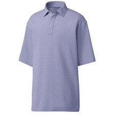 FootJoy Lavender-Blue-Grey Lisle Batik Circle Print Self Collar Polo