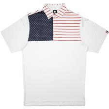 FootJoy Men's Previous Season Lisle Chest Block Flag Polo