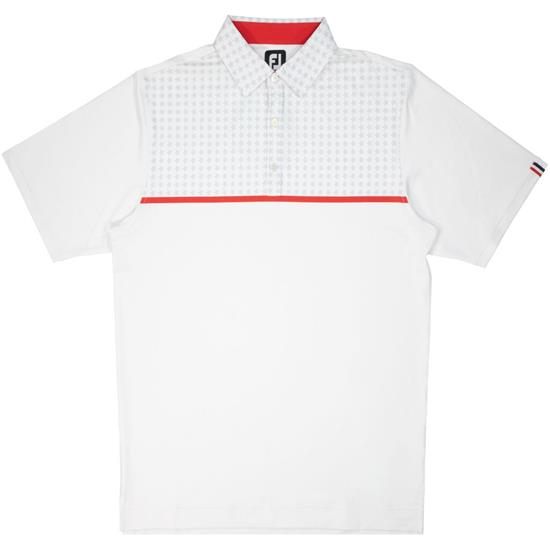 FootJoy Men's Previous Season Lisle Chest Stripe Polo