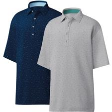 FootJoy Men's Lisle Confetti Print Self Collar Polo