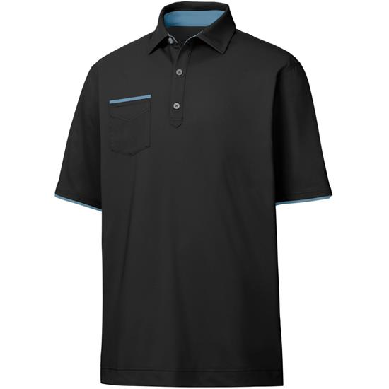 FootJoy Men's Lisle Faux Layer Self Collar Polo