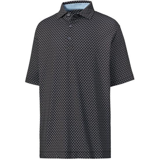 FootJoy Men's Prev. Season Lisle Ogee Print Spread Collar Polo