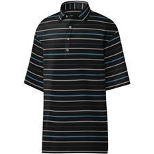 FootJoy Black-Blue-Grey-White Lisle Open Stripe Self Collar Polo