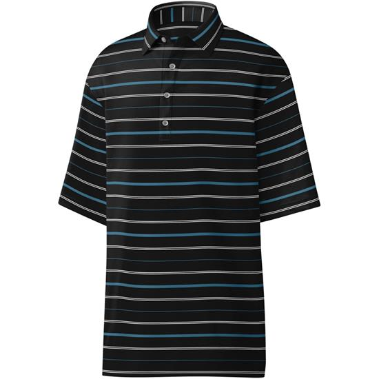 FootJoy Men's Lisle Open Stripe Self Collar Polo