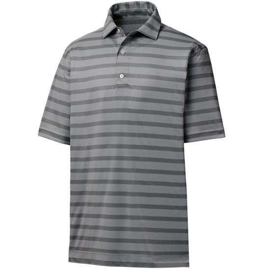 FootJoy Men's Nailhead Jacquard Stripe Self Collar Polo