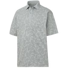 FootJoy Men's Pique Tonal Paisley Print Self Collar Polo
