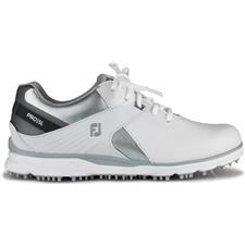 FootJoy White-Silver-Grey Pro/SL Golf Shoes for Women