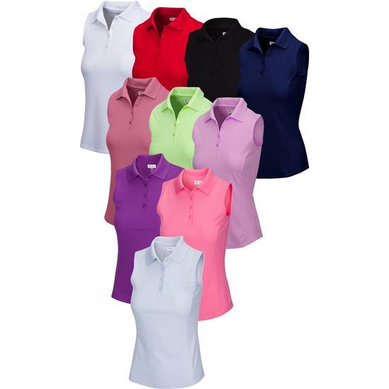 Greg Norman Protek Micro Pique Sleeveless Polo for Women