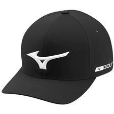 Mizuno Men's Tour Delta Fitted Hat - Black - Large/X-Large