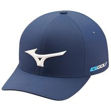 Mizuno Men's Tour Delta Fitted Hat - Navy - Large/X-Large