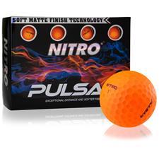 Nitro Pulsar Matte Finish Orange Golf Balls