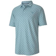 Puma Milky Blue Cloudspin Scatter Golf Polo