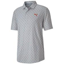 Puma Pureed Pumkin Cloudspin Scatter Golf Polo