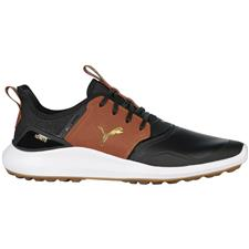 Puma Puma Black-Leather Brown Ignite NXT Crafted Golf Shoes