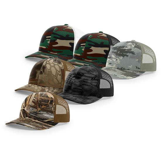 Richardson Men's R112 Trucker Camo Snapback Hat