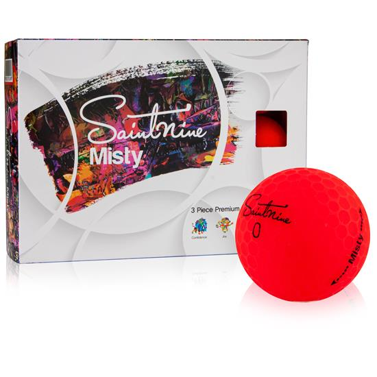 Saintnine Misty Red Golf Balls