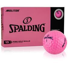 Spalding Molitor Pink Golf Balls - 15 Pack