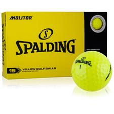 Spalding Molitor Yellow Golf Balls