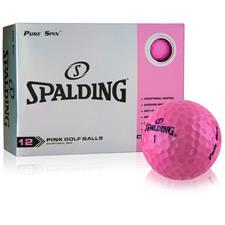 Spalding Pure Spin Pink Golf Balls