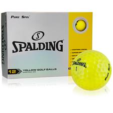 Spalding Pure Spin Yellow Golf Balls