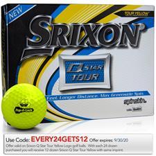 Srixon Q-Star Tour 3 Yellow Custom Logo Golf Balls