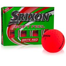 Srixon Soft Feel 2 Brite Red Personalized Golf Balls