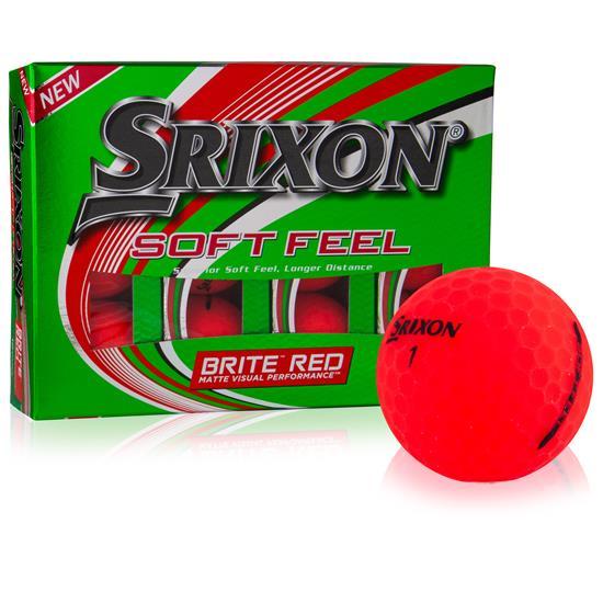 Srixon Soft Feel 2 Brite Red Golf Balls