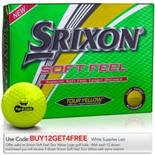 Srixon Custom Logo Soft Feel Yellow Golf Balls