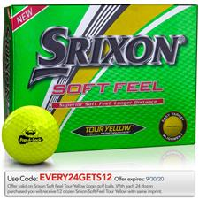 Srixon Soft Feel Yellow Custom Logo Golf Balls