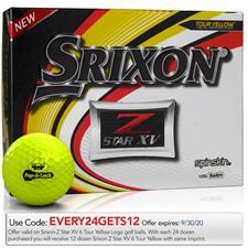 Srixon Z Star XV Yellow Custom Logo Golf Balls