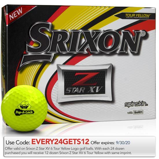 Srixon Z Star XV Yellow Golf Balls