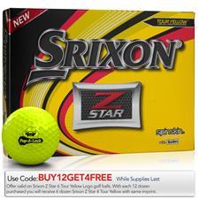 Srixon Z Star Yellow Custom Logo Golf Balls