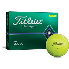 Titleist Custom Logo AVX Yellow Golf Balls