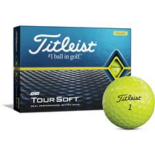 Titleist Tour Soft Yellow Monogram Golf Balls