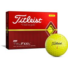 Titleist Custom Logo TruFeel Yellow Golf Balls