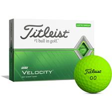 Titleist Velocity Matte Green Golf Balls