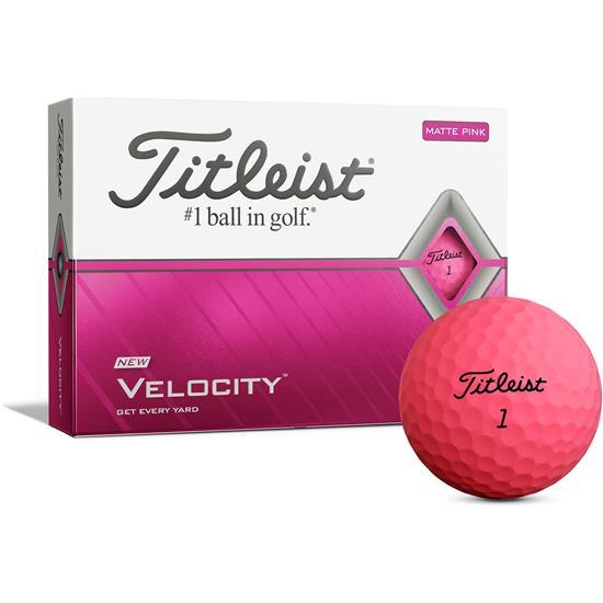 Titleist Velocity Matte Pink Golf Balls