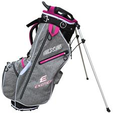 Tour Edge Exotics EXS Xtreme Stand Bag - Heather-Pink-White